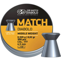 Diabolo JSB Yellow Match 4,5mm (0,520g)