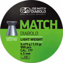 Diabolo JSB Green Match 4,5mm (0,535g)