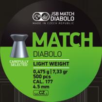 Diabolo JSB Green Match 4,5mm (0,535g)